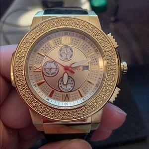 JBW Accessories - JBW Men's Saxon Gold and Black Watch